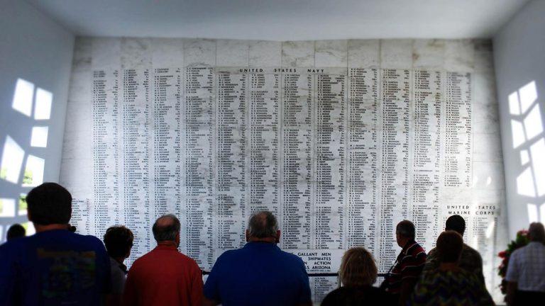 Oahu Pearl Harbor Memorial- Wall of names