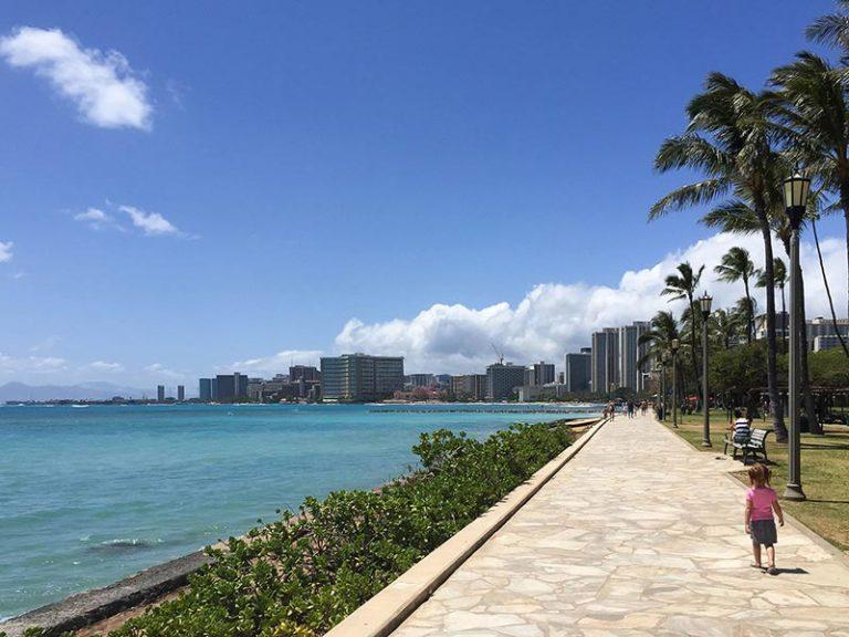 Waikiki boardwalk