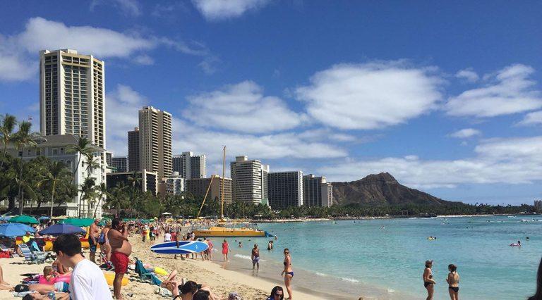 Waikiki Oahu Hawaii View of Diamondhead