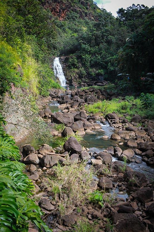Waimea Valley waterfall