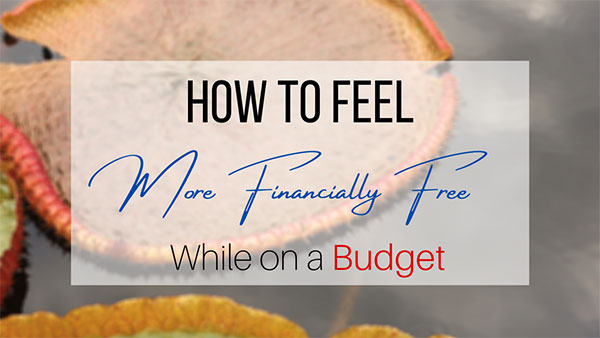 Financially free while one a budget