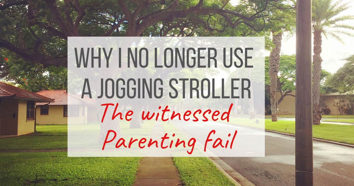 jogging stroller- parent fail