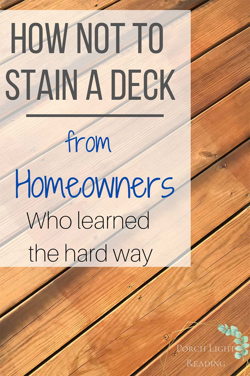 how to avoid lap marks when staining a deck