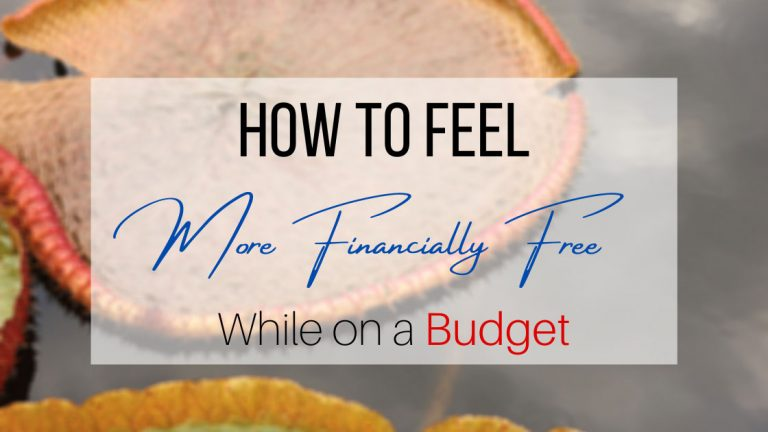 How to feel financially free while on a budget