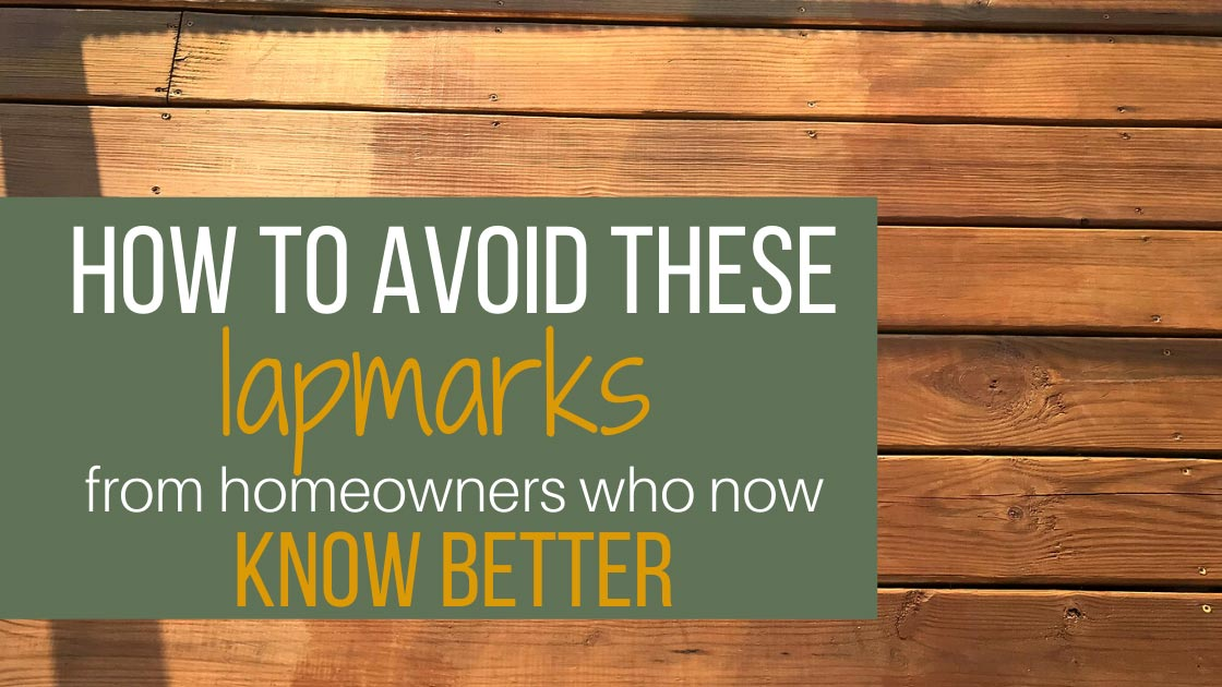 How to avoid deck lapmarks