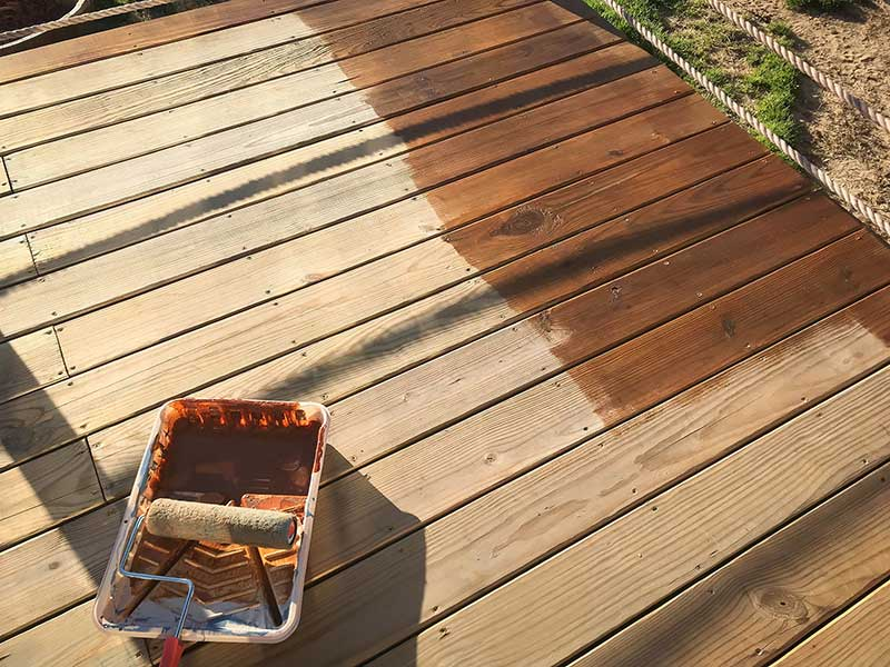 how not to stain a deck