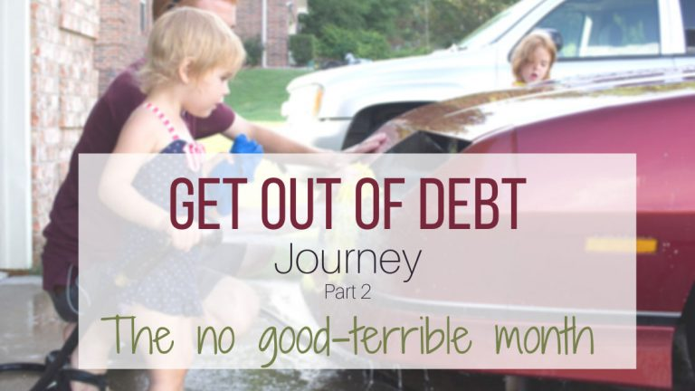 Get out of debt journey-part two-horizontal