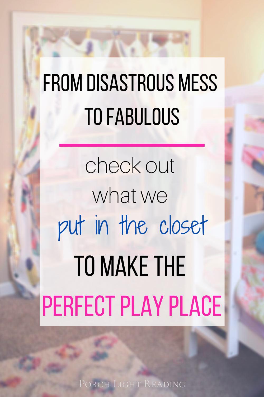 Little girls closet makeover-