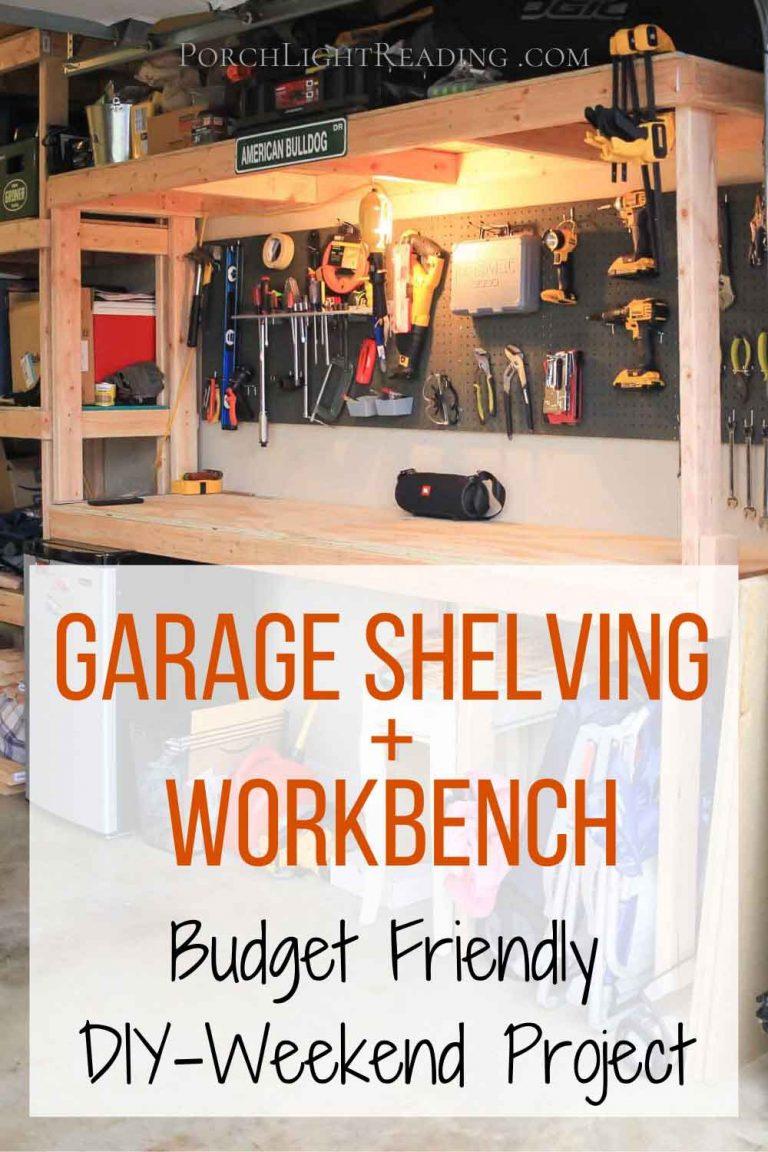 Garage shelving and workbench combo