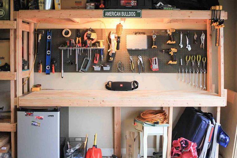 Garage shelving and workbench