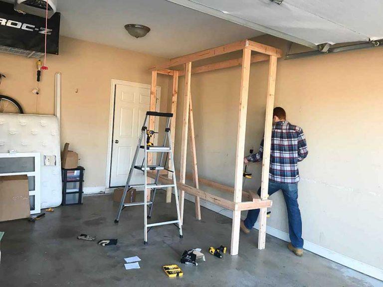 garage shelving DIY
