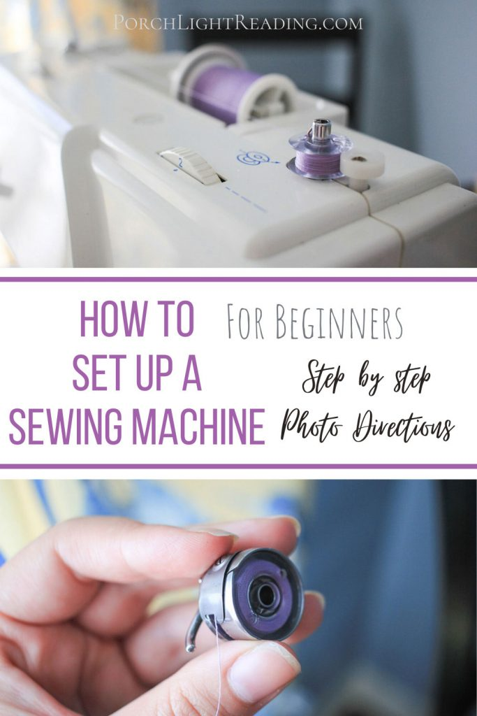 How to set up a sewing machine for beginners