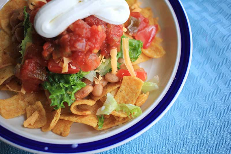 haystack with Fritos chips