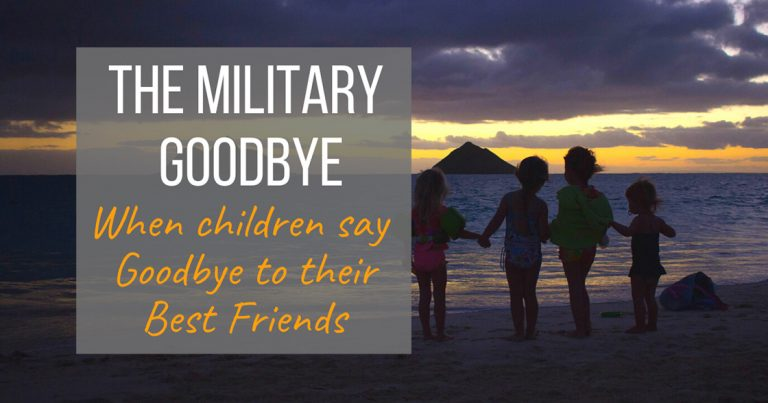 The Military Goodbye
