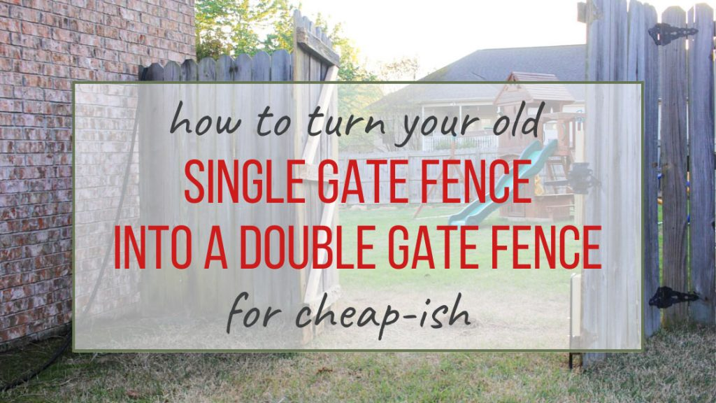 How to turn your single fence gate into a double gate