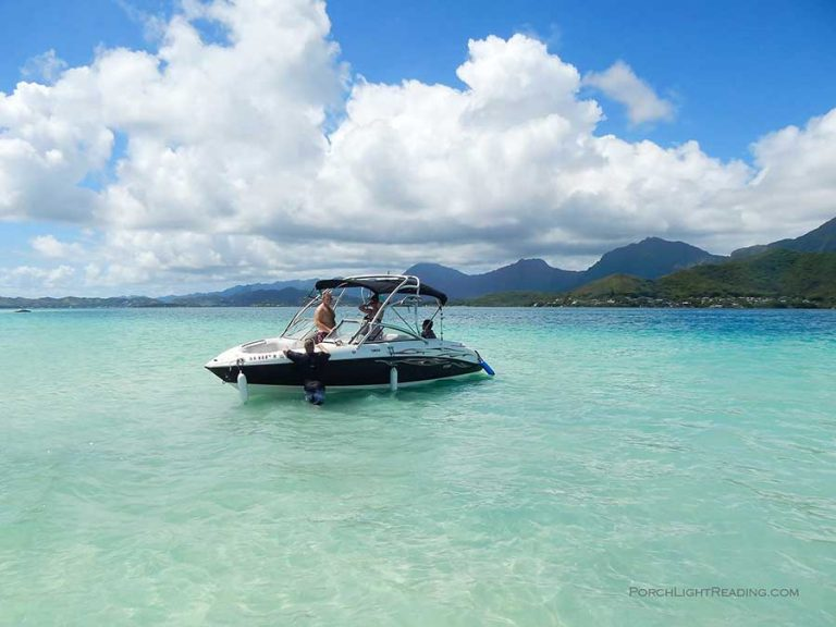 Sand bar of Kaneohe Oahu