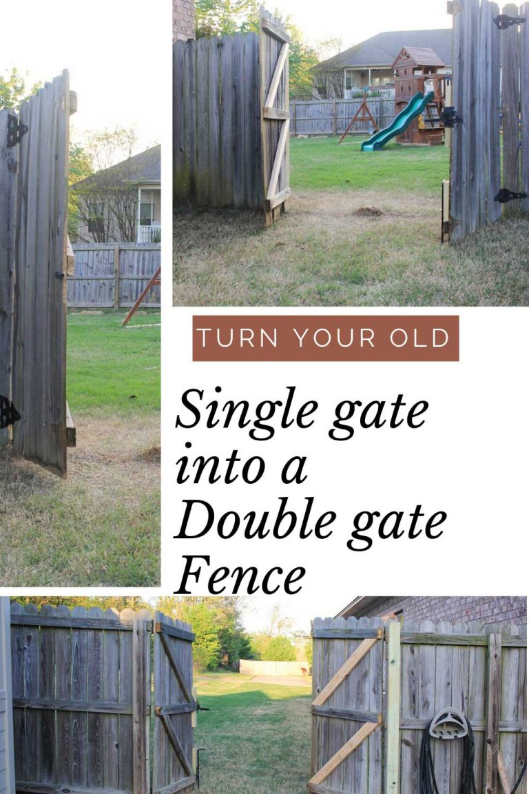 How to make a double gate from an existing fence