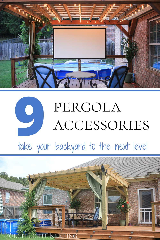 Pergola accessories and design ideas