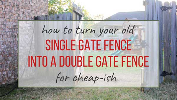 How to make a double gate