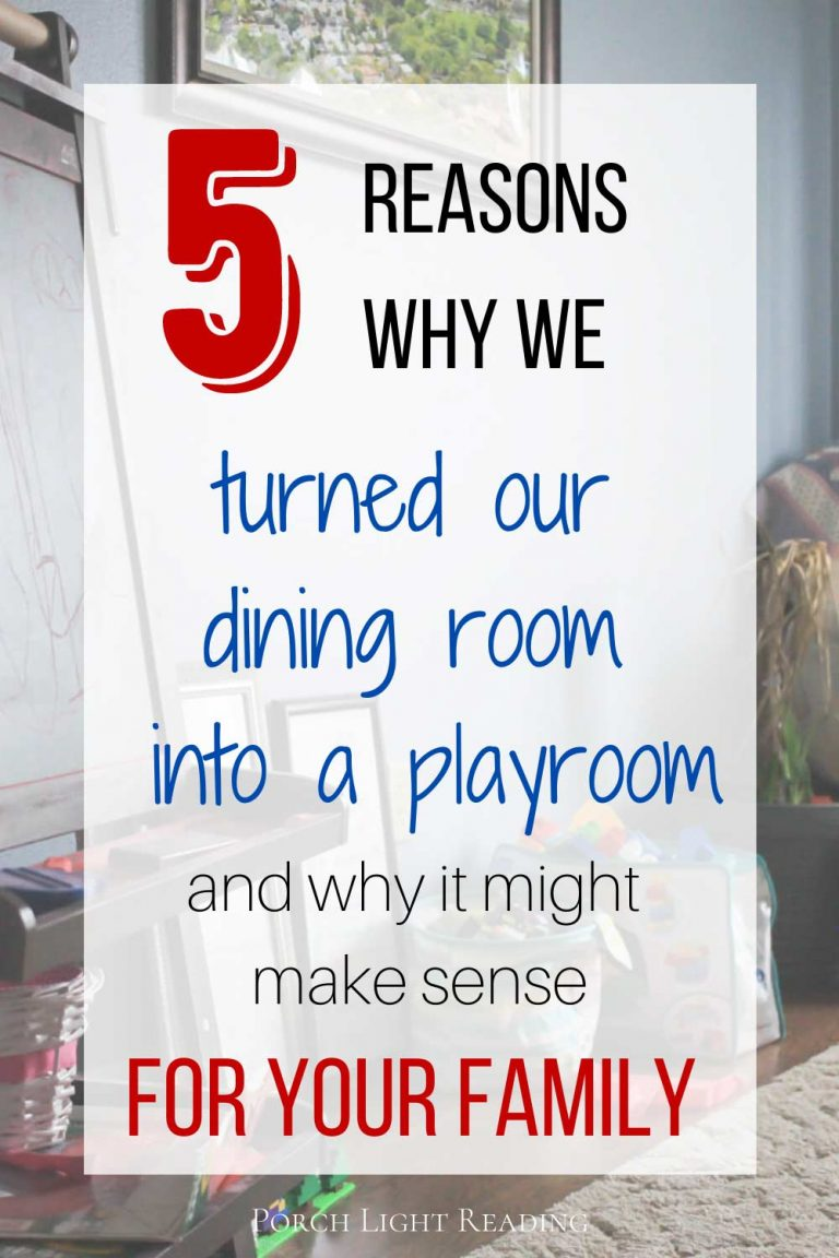 turning a dining room into a playroom