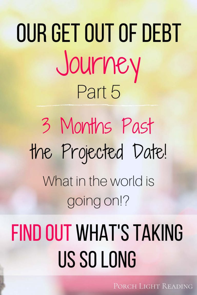 Get out of debt journey part 5
