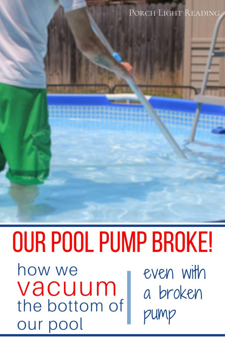 how to clean a pool without a pump