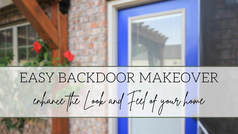 metal door makeover