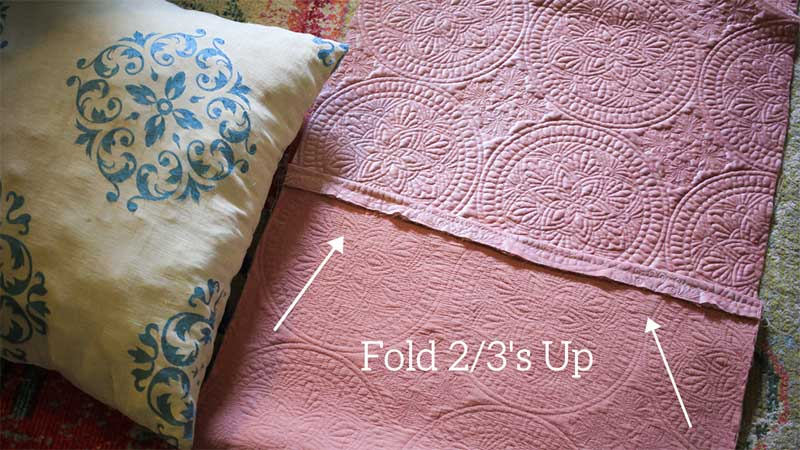 fold 2/3s up