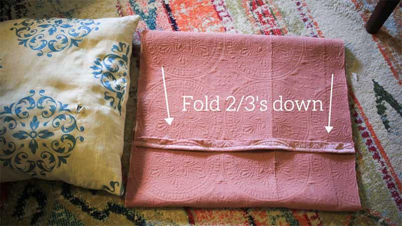 fold 2/3s down