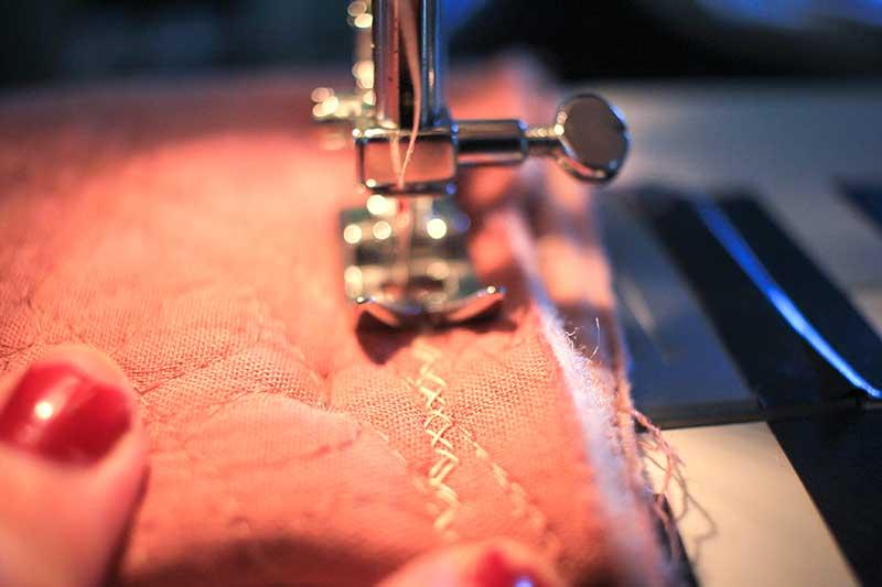 sew around the edges