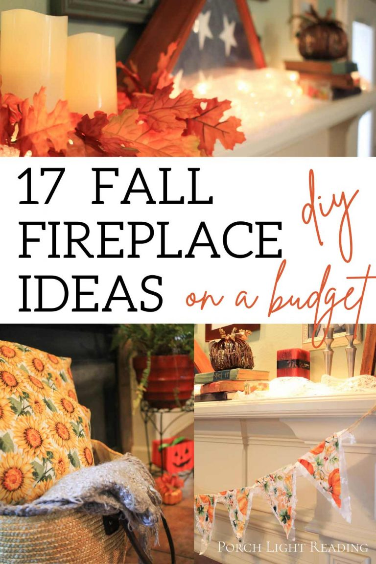 Fall fireplace ideas on a budget