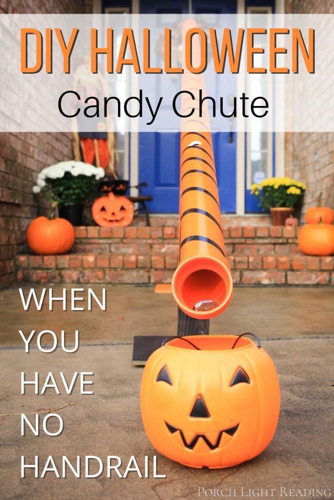 halloween candy chute, no handrails