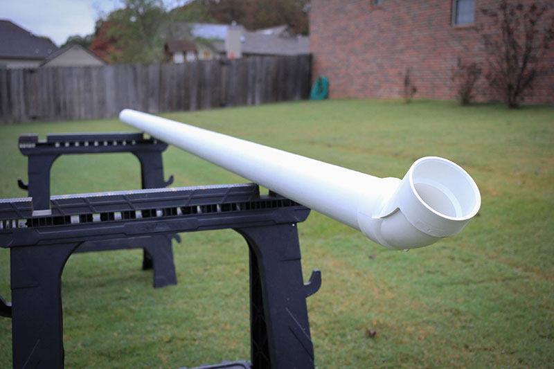 10 foot sanded PVC pipe