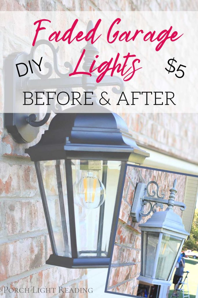 how to paint outdoor light fixture without taking them down