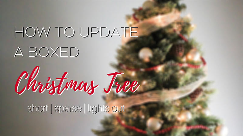 How to update a fake christmas tree