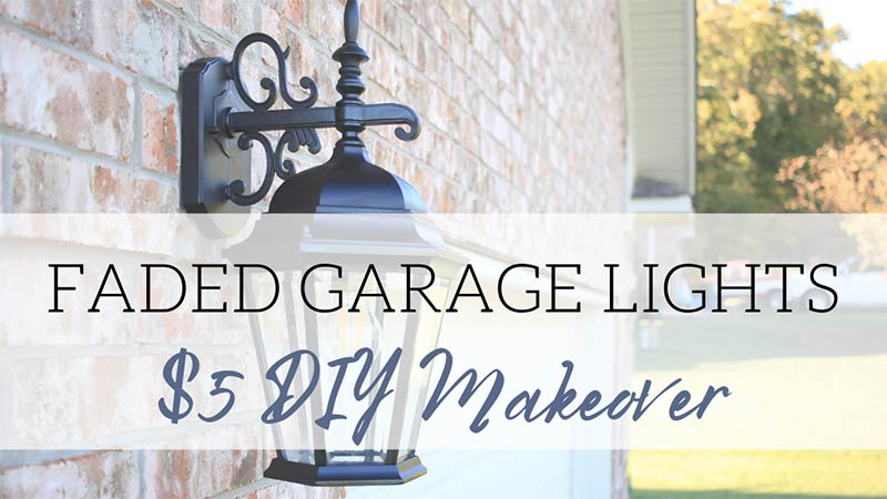 How to paint faded garage lights DIY