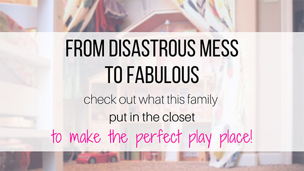 Kids closet makeover to play area