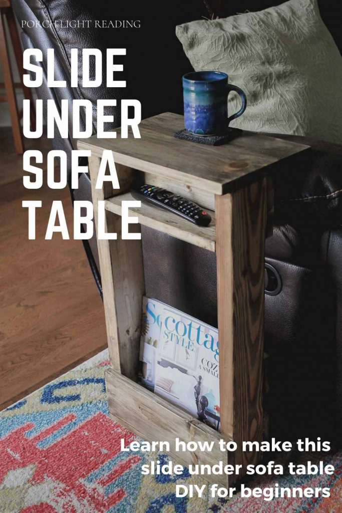 slide under sofa table DIY