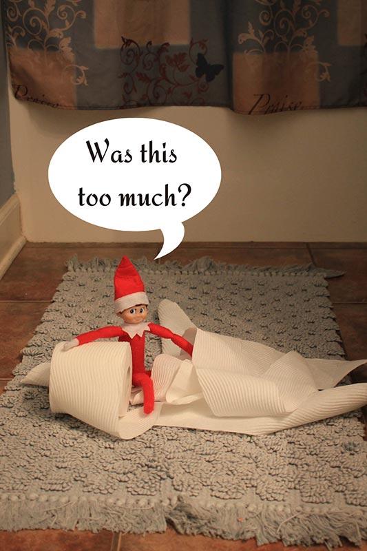 elf in toilet paper