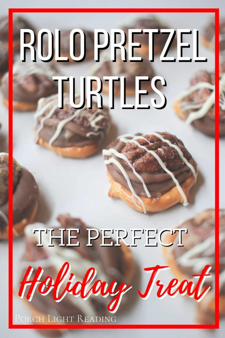Homemade Rolo pretzel turtles with pecans