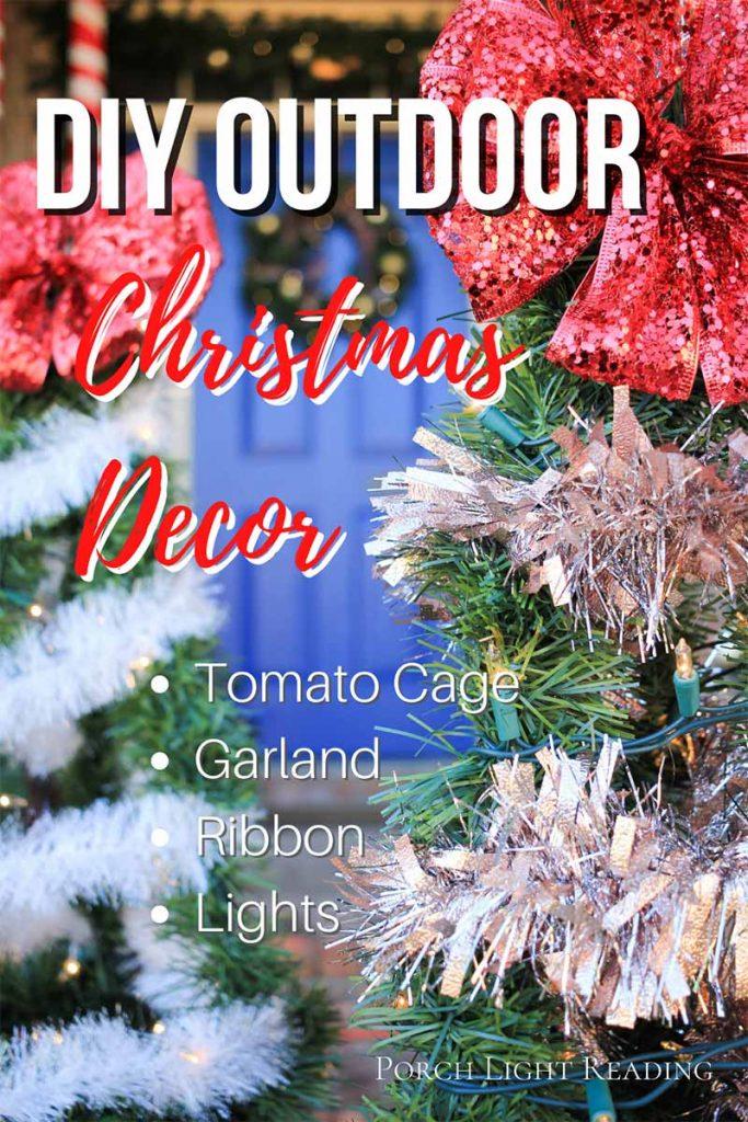 Tomato cage Christmas tree DIY