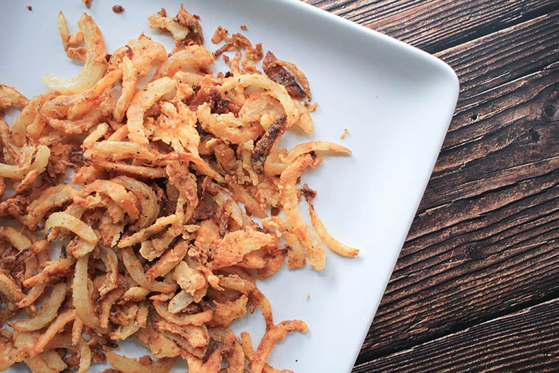 Homemade fried onions-casserole topping