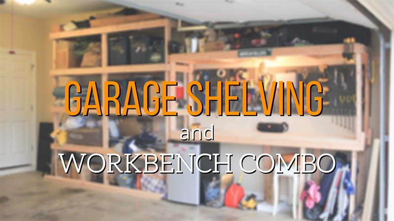 Garage shelving and workbench DIY h3n