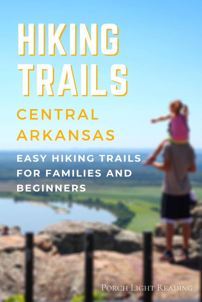 Hiking trails in central Arkansas
