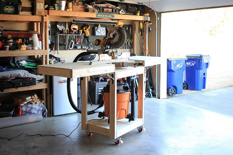 Miter saw table DIY