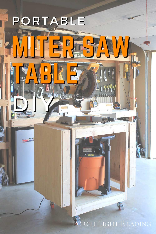 miter saw table- DIY