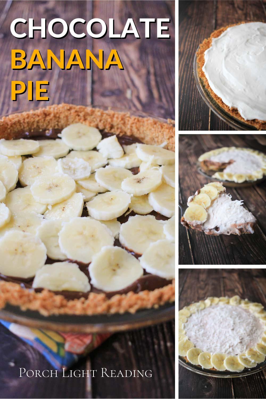 banana cream pie with chocolate