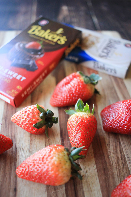 chocolate covered strawberry ingredients