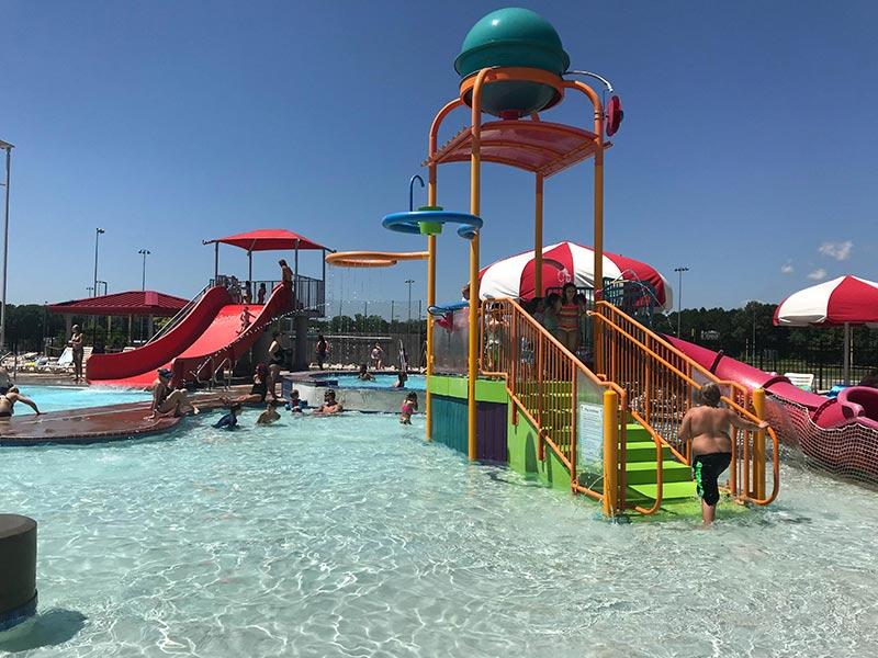 Swimming at Cabot Aquatic Park in central Arkansas