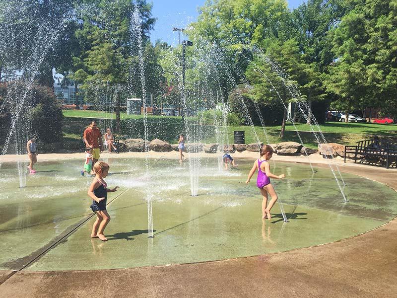Riverfront Splash Pad in Little Rock